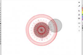 非常有趣的在线万花尺绘制工具 Inspirograph 在线万花尺绘制器