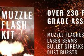 AE模板230组闪光子弹轨迹弹道瞄准开枪激光特效 Real Muzzle Flash Kit