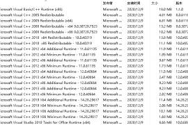 [21498期]Visual C++ 运行库合集完整版21年6月版v50 装机必备系列:VB、VC运行库