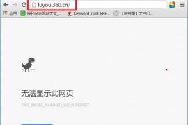 luyou.360.cn登陆页面打不开解决办法