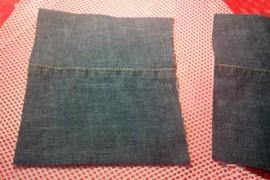 牛仔裤旧物改造:旧牛仔裤改造收纳盒