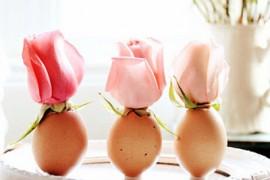 鸡蛋壳手工制作:浪漫的鸡蛋壳插花