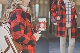 冬季服装搭配技巧 格子外套经典不败