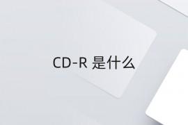 CD-R 是什么
