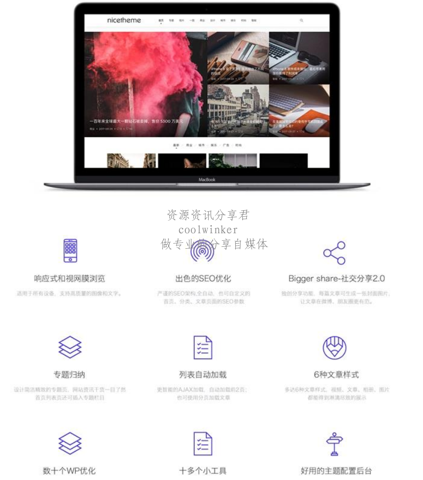 Cosy 3.0模板,简洁自适应漂亮WordPress博客主题