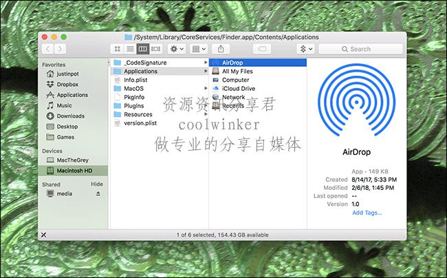将AirDrop图标添加到macOS Dock