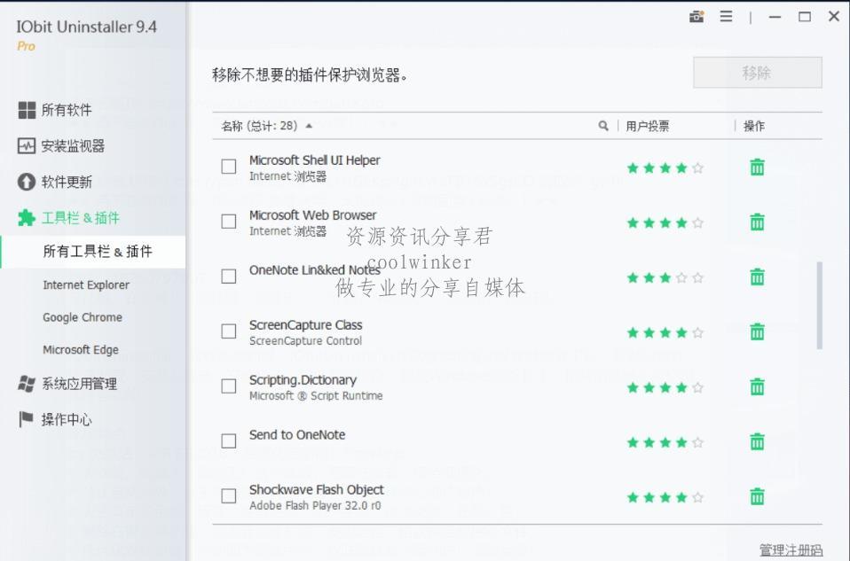 软件卸载神器 IObit Uninstaller v9.4免安装版