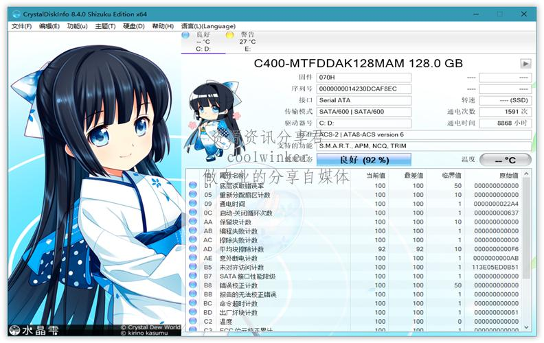 CrystalDiskInfo v8.5.2 绿色版